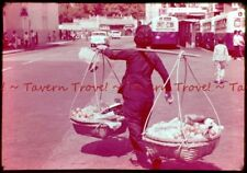1960s Hong Kong HAWKER, FRUIT SELLER Gift Shop Slide s257