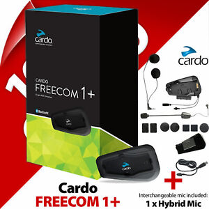Cardo FREECOM 1+ PLUS 40mm Speakers Bluetooth Motorcycle Helmet Intercom 2020