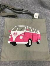 Campervan Canvas Tote Bag, Campervan Picnic Bag, Split Screen Shoulder Bag