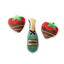 Fringe Studio Champagne Strawberry 3-piece Small Dog Toy Set