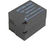 New 2x DMW-BLC12 BLC12E Battery for DMC-GH2KK GH2KS GH2S GH2H GH2 GH5 GH6 FZ200K