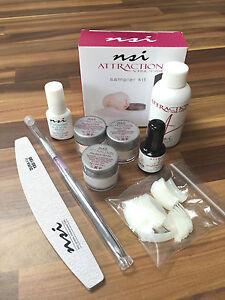 NSI Attraction Acrylic  Kit Nail Primer Powder Liquid Polybond Brush File N Tips