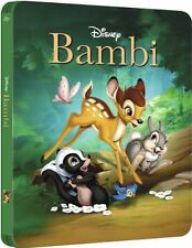 Bambi Limited Edition SteelBook [Blu-Ray, Disney, Region Free, 1-Disc] NEW