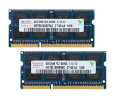 Hynix 2x 4 Go 2rx8 Ddr3 1066 MHz Pc3-8500s 204pin SODIMM portable Mémoire #gs#