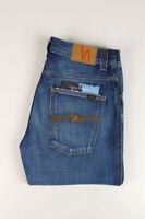 32288 Nudie Jeans Slim Jim Used Electric Indigo Bleu Hommes Jean Taille 30/34