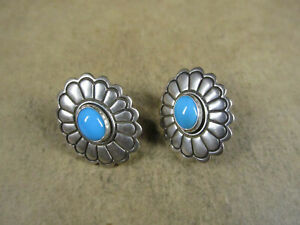 Carolyn Pollack Relios Sterling Silver & Turquoise Earrings, 3.5g