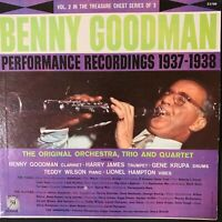 BENNY GOODMAN  PERFORMANCE RECORDINGS  1937-1938  VOL 2 LP  MGM E3789