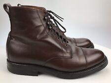 Men's 8 E WIDE - Allen Edmonds Andover Cap Toe Dark Chili Leather Ankle Boots