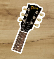 Gibson Headstock Guitar Vinyl Sticker Laptop Car Rock 3 inches - Free Shipping