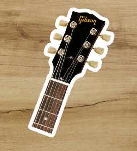 Gibson Headstock Guitar Vinyl Sticker Laptop Car Rock 3 inches - Free Shipping