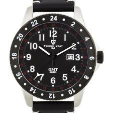 Tschuy Vogt A-2 Savage GMT Swiss Quartz Men's Watch TV-16048-A