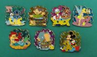 Disney Pin DS Stained Glass Bath Time Fun Series - Complete Set of 7 Pins LE250