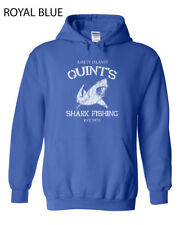 047 Quints Shark Fishing Hoodie Sweatshirt funny great white movie jaws Amity