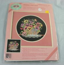 Dimensions From the Heart Pansies and Lace Counted Cross Stitch Kit 53543