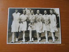 1936 PHOTOGRAPH BRITISH WIGHTMAN CUP TEAM TENNIS