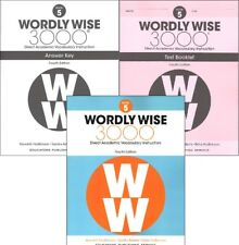 4Th Edition Wordly Wise 3000 Grade 5 Set Workbook Answer Key & Tests
