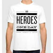 David Bowie We can be Heroes T-shirt Men's Women's New Tee S-3XL