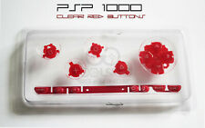 PSP 1000 Replacement Clear Red Button Set - UK Dispatch