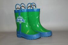 NEW Girl's or Boy's Ranger Size 2 Youth, Green Waterproof Rubber Boots