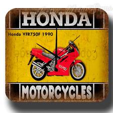 Honda VFR750F 1990 MOTORCYCLE  VINTAGE  METAL TIN SIGN WALL CLOCK