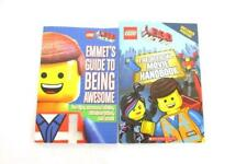 Lot of 2 The Lego Movie Children's Books Official Movie Handbook Emmets Guide
