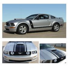 Ford Mustang 2005-2009 w/ Hood Scoop Fastback Body Graphic Kit - Matte Black