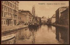 tarjeta postal TRIESTE canal y de la iglesia s.antonio