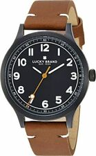 Lucky Brand Jefferson Leather Watch, Brown/Black 38MM - NEW