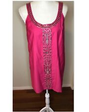Bebe Pink tank Adorna sequence dress Size: small Brand New