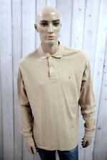 RALPH LAUREN Uomo T-Shirt Maglia Maglietta Casual Polo Manica Lunga Taglia L