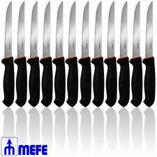 "Box of 12 - 7"" STRAIGHT BONING KNIFE - BLACK DOUBLE SOFT GRIP (CAT 1387 x 12)"