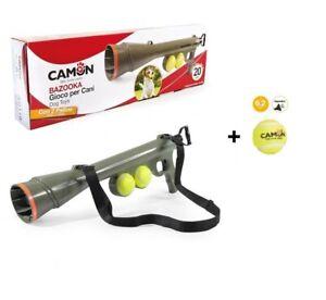 BAZOOKA SPARA PALLE da tennis con 2 palline + 1 pallina squeaker in OMAGGIO