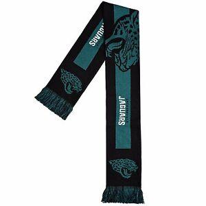 Jacksonville Jaguars Scarf Knit Winter Neck  Double Sided Big Team Logo New 2016