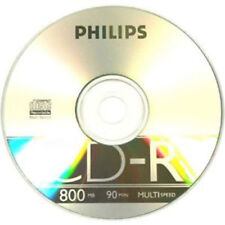 Philips Branded 52x 800mb 90 minute CD-R 1 Disc in plastic sleeve