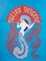 Original Vintage Poster - Erté - Folies Bergère Paris - Music Hall - 1974