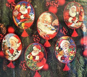 "DIMENSIONS ""Spirit of Santa Ornaments"" Rare Christmas Counted Cross Stitch Kit"