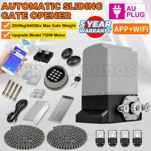 New 4400lbs Electric Automatic Sliding Gate Door Opener W/ 4 Remotes APP control