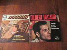 lot de  2 disques Vinyles  45 tours GILBERT BECAUD