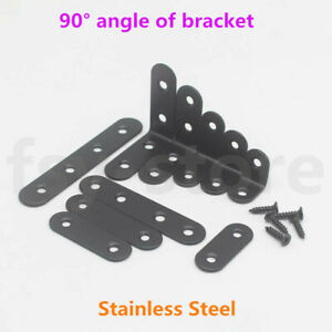 Bracket Right Angle Black Stainless Steel Bracket