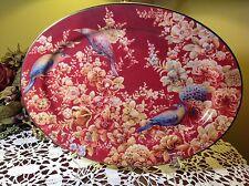 """POTTERY BARN Sabyasachi Floral 16"""" Oval Platter NEW!"""