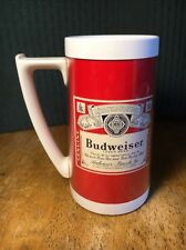 VTG Budweiser Beer Mug Bar Bud Thermo-Serv Insulated Cup RED advertising PLASTIC