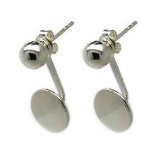 Genuine 925 Sterling Silver - Wear 2 ways Ball and Disc Stud Earrings (SE0341)