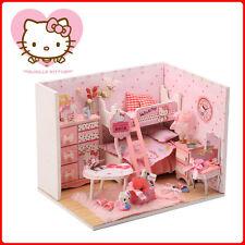Dollhouse Miniature DIY Wood Kits Dolls House Craft Gift Kitty Princess House