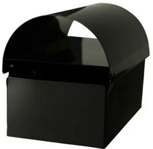 Letterbox Black Letter Box Mail Post Mount Style Brand New Hinged Lid Lockable
