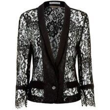 Jigsaw French Lace Jacket, Black Ladies UK SIze 12 RRP £220 Box12 32 V
