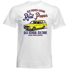 VINTAGE Francese AUTO RENAULT 12 BREAK-NUOVO T-shirt di cotone