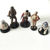 Disney Star Wars Lot of 5 Figures On Stand Vietnam R2 D2 Han Solo Chewy BB8 3CPO