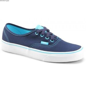 NEW VANS TRAINERS SKATE SHOES UK SIZE 3.5 - BLUE / TURQUOISE