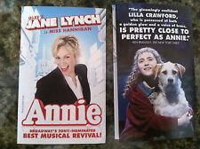 Annie the musical mini ad/flyer Broadway NYC Jane Lynch Glee Miss Hannigan