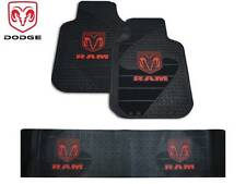 3 Pc Dodge Ram Front/Rear Runner Rubber Floor Mats With Logo Fast Shipping
